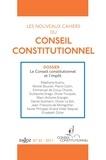 Olivier Fouquet et Emmanuel de Crouy-Chanel - Les nouveaux cahiers du Conseil constitutionnel N° 33, 2011 : Le Conseil constitutionnel et l'impôt.