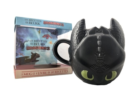 Hachette - Les recettes de Beurk Dragons 3, le monde caché - Avec 1 mug Krokmou.