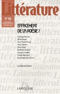 Christian Doumet et Michel Deguy - Littérature N°156 : Effacement de la poésie ?.