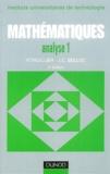 Pierre Thuillier et Jean-Claude Belloc - Mathématiques analyse IUT - Tome 1, Fonction d'une variable réelle, fonction de plusieurs variables.