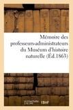 Dupin - Mémoire des professeurs-administrateurs du Muséum d'histoire naturelle.