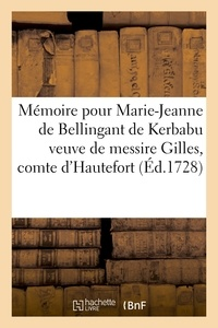 Aubry - Mémoire pour Marie-Jeanne de Bellingant de Kerbabu veuve de messire Gilles, comte.