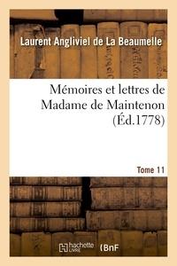 Madame de Maintenon - Mémoires et lettres de Madame de Maintenon. T. 11.