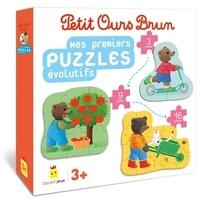Danièle Bour - Mes premiers puzzles évolutifs Petit Ours Brun - Avec 3 puzzles et 3 sacs en tissu.