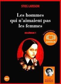 Stieg Larsson - Millénium Tome 1 : Les hommes qui n'aimaient pas les femmes. 2 CD audio MP3