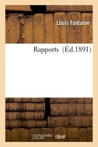 Louis Fontaine - Ministère du commerce, de l'industrie et des colonies. Rapports du jury international.
