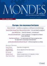 Jacques Baudouin - Mondes N° 2, Hiver 2010 : Europe : les nouveaux horizons.
