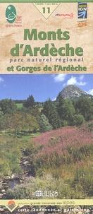 FFRandonnée - Monts d'Ardèche Parc naturel régional et Gorges de l'Ardèche - 1/60 000.