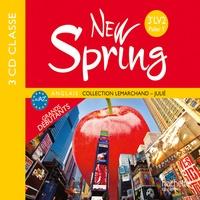 Hachette - New Spring Anglais 3e LV2 Palier 1 A1/A2 - Grands débutants. 3 CD audio