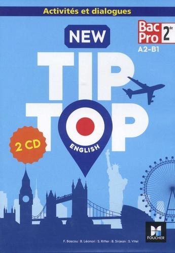 New Tip Top English 2de Bac Pro A2-B1  Edition 2018 -  2 CD audio