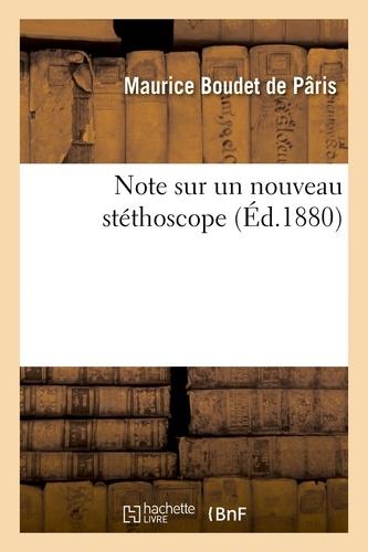 Maurice Boudet de Pâris - Note sur un nouveau stéthoscope.