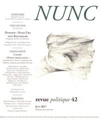 Jérôme de Gramont - Nunc N° 42, juin 2017 : Hans Urs von Balthasar.