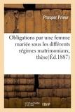 Prieur - Obligations par une femme mariée sous les différents régimes matrimoniaux, thèse pour le doctorat.