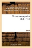 Claude-Adrien Helvétius - Oeuvres completes. Tome 1.