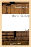 De sales François - Oeuvres. tome 3.