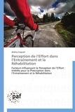Jérémy Coquart - Perception de l'effort dans l'entraînement et la réhabilitation.