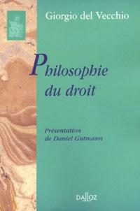 Giorgio Del Vecchio - Philosophie du droit.