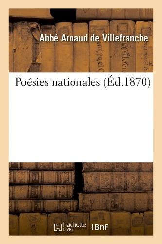 Hachette BNF - Poésies nationales.