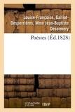 Galliot-desperrières, mme jea Desormery louise-françoise - Poésies.