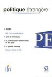 Jean-Marc Ferry - Politique étrangère N° 3, 2005 : .
