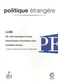Charles Wyplosz et Frédérique Sachwald - Politique étrangère N° 4, Hiver 2005-200 : UE : défis économiques et sociaux.