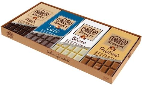 Hachette Pratique - Coffret 4 mini-livres Nestlé - Noir - Lait - Blanc - Praliné.