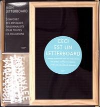 Hachette Pratique - Coffret Letterboard - Contient : 1 tableau, 140 lettres, chiffres et symboles, 1 livre.