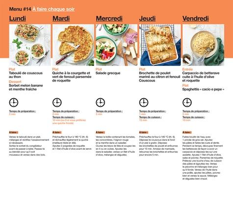En 2h je cuisine pour toute la semaine. 52 menus hebdomadaires pour toute l'année