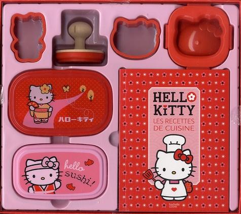 Hachette Pratique - Hello Kitty les recettes de cuisine - Avec 2 boîtes à bento, 2 emporte-pièce, 1 tampon à biscuits, 1 moule à oeuf.