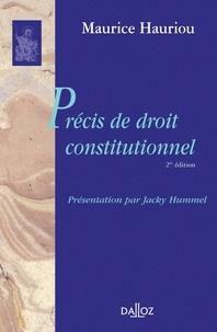 Maurice Hauriou et Jacky Hummel - Précis de droit constitutionnel.