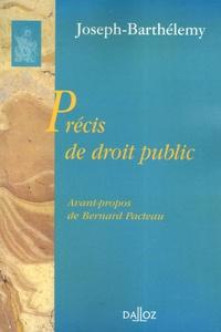 Joseph-Barthélemy - Précis de droit public.