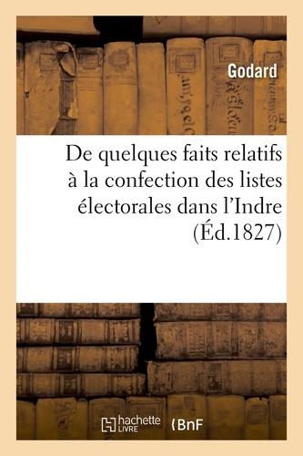 Godard - Précis de quelques faits relatifs à la confection des listes électorales.