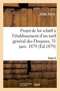 Jules Ferry - Procès-verbaux de la Commission chargée d'examiner le projet de loi relatif à l'établissement.