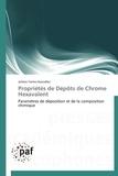 Julieta Torres-Gonzalez - Propriétés de dépôts de Chrome Hexavalent.