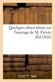 Delaunay - Quelques observations sur l'ouvrage de M. Fiévée.