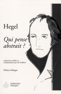 Qui pense abstrait ? (1807) - Edition bilingue français-allemand.pdf