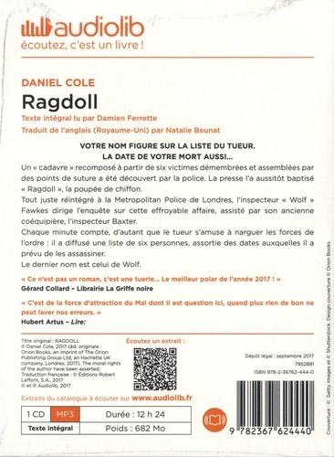 Ragdoll  avec 1 CD audio MP3