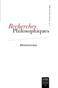 Emmanuel Tourpe - Recherches philosophiques N° 6, premier semest : Métaphysique.