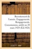 Impr.-éditeurs Charles-lavauzelle et cie - Recrutement de l'armée. Engagements. Rengagements. Commissions.