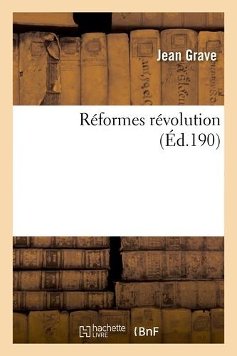 Réformes révolution