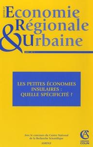 Kinvi Logossah et Fred Célimène - Revue d'économie régionale et urbaine N° 1/2007 : Les petites économies insulaires : quelle spécificité ?.