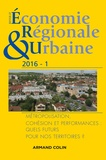 Anne Aguiléra et Claude Lacour - Revue d'économie régionale et urbaine N° 1/2016 : La science régionale et les futurs des territoires.