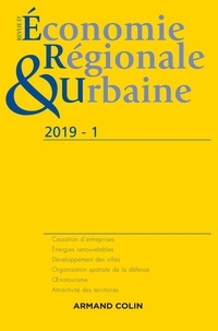 Anonyme - Revue d'économie régionale et urbaine N° 1/2019 : .