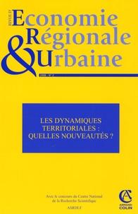 Claude Lacour et Rachel Bocquet - Revue d'économie régionale et urbaine N° 2, 2008 : Les dynamiques territoriales : quelles nouveautés ?.