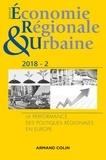 Elena Ragazzi et Sébastien Bourdin - Revue d'économie régionale et urbaine N° 2/2018 : La performance des politiques régionales en Europe.