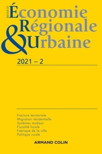 André Torre - Revue d'économie régionale et urbaine N° 2/2021 : .