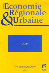 Alain Guengant - Revue d'économie régionale et urbaine N° 5, 2006 : .