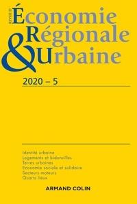André Torre - Revue d'économie régionale et urbaine N° 5/2020 : Varia.
