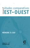 Marie-Claude Maurel - Revue d'études comparatives Est-Ouest Volume 37 N° 3, sept : Mémoire à l'Est.
