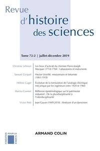 Armand Colin - Revue d'histoire des sciences N° 2/2019 : Varia - Varia.